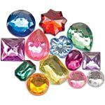 Darice Big Bling Shapes Gem Value Pack Rhinestones, Multicolor 1 LB Pack