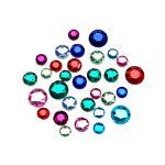 Darice Big Bag of Rhinestones, Round Assorted Colors Crystal