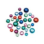 Darice Round Assorted Rhinestones - 8 to 11mm - 1 lb Big Value