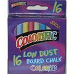 Colorific Low Dust 16 Colors Blackboard Chalk