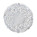 Hygloss 4-Inch Round Silver Doilies, 12-Pack