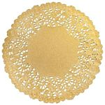Hygloss 4-Inch Round Gold Doilies, 12-Pack