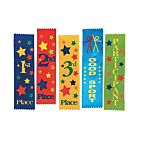 Participant Green Award Ribbons, 1 dozen