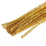 Chenille Stems Pipe Cleaners 12 Inch x 4mm 100-Piece, Metallic Sparkle Gold