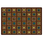 Kids Literacy Squares Nature Carpet  4' x 6'