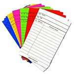 Hygloss Library Cards, Assorted Bright Colors, 3-Inch x 5-Inch, (50Pack)