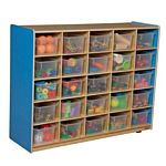 WoodDesigns, 25 Tray Storage Blue with Translucent Trays, WD16001B