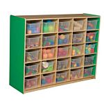 WoodDesigns, 25 Tray Storage Green with Translucent Trays, WD16001G
