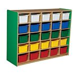 WoodDesigns, 25 Tray Storage Green with Assorted Trays, WD16003G
