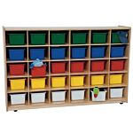 WoodDesigns, 30 Tray Storage Natural with Assorted Trays, WD16033