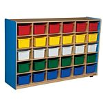 WoodDesigns, 30 Tray Storage Blue with Assorted Trays, WD16033B