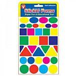 Hygloss Geometric Shapes Stickers Yellow 3 Sheets (1852)