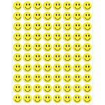 Hygloss Small Smiley Face Stickers, 1/2