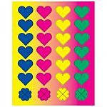 Hygloss Heart Shapes Stickers 3 Sheets (1860)