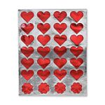 Hygloss Foil Red Hearts Stickers 20 Sheets (1863-1)