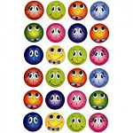 Hygloss Funny Face Stickers 3 Sheets (1865)