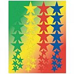 Hygloss Star Shapes Stickers 3 Sheets (1880)