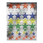 Hygloss Foil Colored Stars Stickers 20 Sheets (1884-1)