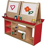 Wood Designs Classroom Art Center For Four , Red, WD19300