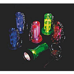 Plastic Large Beam Flashlight Key Chains, 12 units