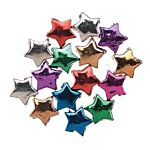 Acrylic Beads Metallic Plated Assorted Colors  Stars 12mm