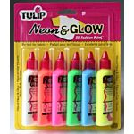 Tulip Neon & Glow 3D Fashion Paint, 1.25-Ounce,  19674 Dimensional 6-Pack