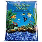 Dark Blue Aquarium Natural Gravel,  Acrylic Color - 5 LBS Bag