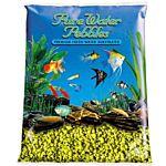 Yellow Aquarium Natural Gravel,  Acrylic Coating - 5 LBS Bag