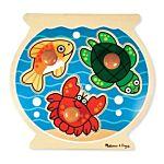Melissa & Doug Fish Bowl Jumbo Knob Wooden Puzzle - 3 Pieces, item 2056