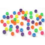Pony Beads Acrylic Neon Colors, 9mm 1 lb Big Value