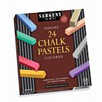 Sargent Art Colored Square Chalk Pastels, 24 Count 22-4124