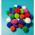 Acrylic Pom-Poms, 1/2 Inch, Neon Assorted Colors, 150/Bag