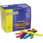 Jumbo Colored Wood Craft Sticks - 6