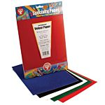 Hygloss Velour Paper Self-Adhesive, Red - 8.5