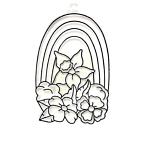 Kellys Crafts Acrylic Suncatcher, Rainbow / Flower - Pack Of 6