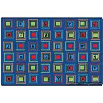 Kids Literacy Squares Primary Carpet  8' x 12'