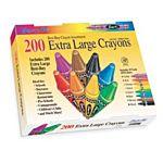 Sargent Art 200-Count Extra Large Crayon, Best Buy Assortment 55-3245
