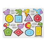 Melissa & Doug See-Inside Shapes Peg Wooden Puzzle - 8 Pieces, item 3285