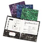 Marble Portfolios Twin Pocket Folders , 12 1/2