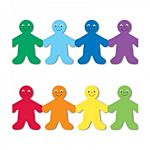 Hygloss Classroom Die Cut, Rainbow People Border, 3 x 36-Inch 12-Pack, 33606
