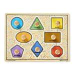 Melissa & Doug Large Shapes Jumbo Knob Wooden Puzzle - 8 Pieces, item 3390