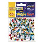 Chenille Kraft Wiggle Eyes 100 Pieces  Painted