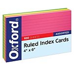 Oxford Index Cards Ruled , 4