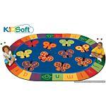 Kids Soft 123 ABC Butterfly Fun Rug, Carpet 3'10
