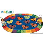 Kids Soft 123 ABC Butterfly Fun Rug, Carpet 6'9