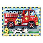 Melissa & Doug Fire Truck Wooden Chunky Puzzle ,18 pcs , item 3721
