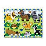Melissa & Doug Pets Chunky Puzzle, 8 Pieces , item 3724