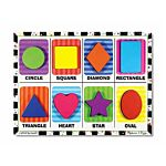 Melissa & Doug Shapes Chunky Puzzle, 8 Pieces , item 3730