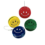 Metal Smile Face Yo-Yos, 12 units