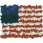 Hygloss American 30 Flag Tissue Craft Kit, item - 40004